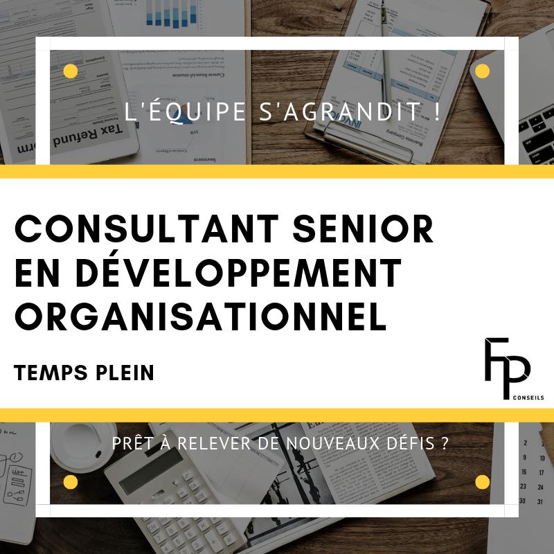 Consultant senior développement organisationnel recherché